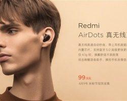 Представлены беспроводные наушники Redmi AirDots