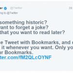 Теперь сообщения Twitter можно добавлять в закладки