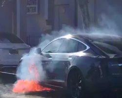 Tesla Model S режиссера Майкла Морриса загорелась во время движения