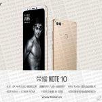 Анонсирован смартфон Honor Note 10
