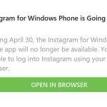 30 апреля Instagram прекратит поддержку приложения на Windows 10 Mobile