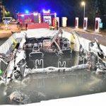 В Бельгии загорелся электромобиль Tesla Model S