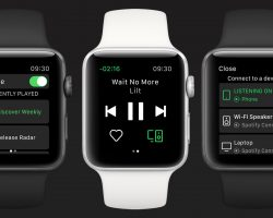 Spotify создала фирменное приложение для часов Apple Watch