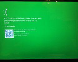После мартовского обновления Windows 10 «синий экран смерти» может стать зеленым