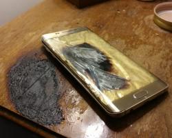 Еще один сгоревший Samsung, на этот раз Galaxy S6 edge+