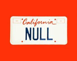 Американский ИБ-специалист зарегистрировал номерной знак «NULL» и очень об этом пожалел