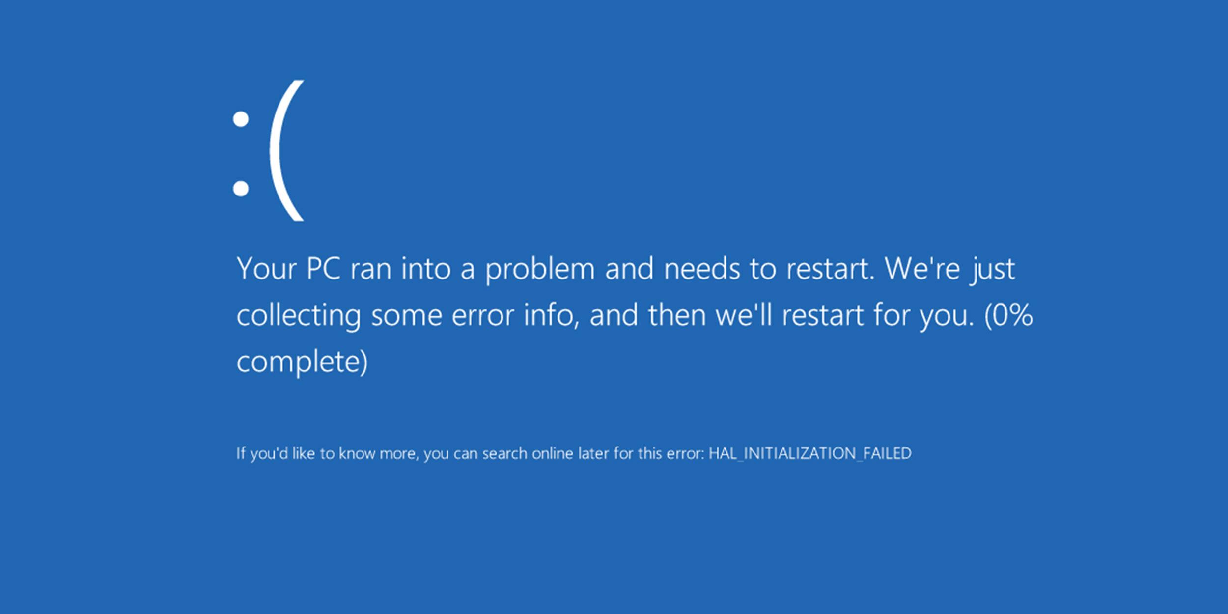 После обновления Windows 10 система выдает «синий экран смерти» и не работает звук
