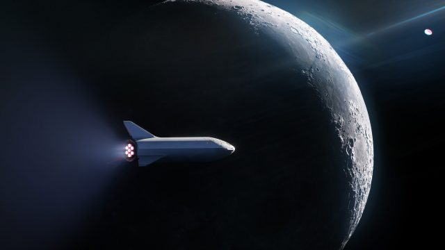 SpaceX выбрала туриста для полета на Луну