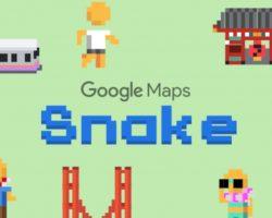 К 1 апреля компания Google добавила в приложение Карты мини-игру «змейка»