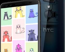 Криптокотята станут доступны в смартфонах HTC