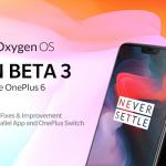Для смартфонов OnePlus 6 стала доступна новая бета-версия прошивки OxygenOS на базе Android 9.0 Pie