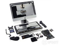 Специалисты iFixit разобрали 21,5-дюймовый iMac 2017 с 4K дисплеем