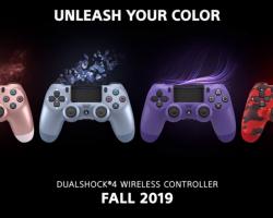 Sony выпустила контроллеры DualShock 4 в четырех новых цветах