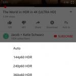 Смартфоны Google Pixel, Samsung Galaxy S8, Note8, LG V30 и Sony Xperia XZ Premium будут поддерживать HDR-видео на YouTube