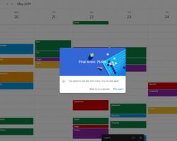 Вторая игра Google в честь 1 апреля «спряталась» в календаре