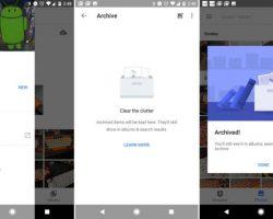 Приложение Google Фото для Android обновилось, добавлена возможность создавать архив фотографий