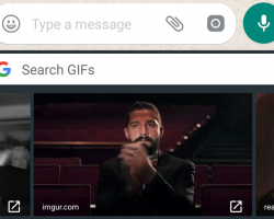WhatsApp добавляет поддержку GIF-анимации GBoard для Android (пока в бета-версии)
