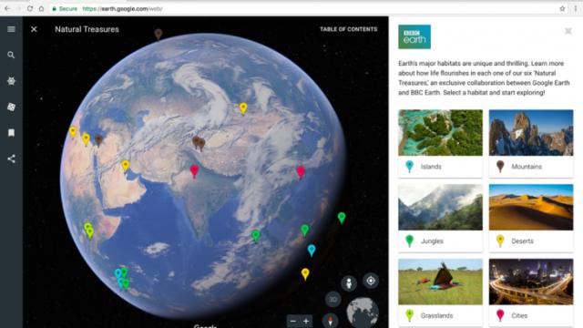 Google представила обновленную версию сервиса Earth