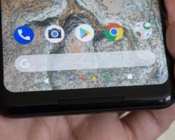 Экран некоторых смартфонов Pixel 2 XL не реагирует на прикосновение возле краев