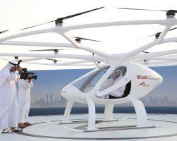 В Дубае протестировано первое в мире летающее беспилотное такси Volocopter