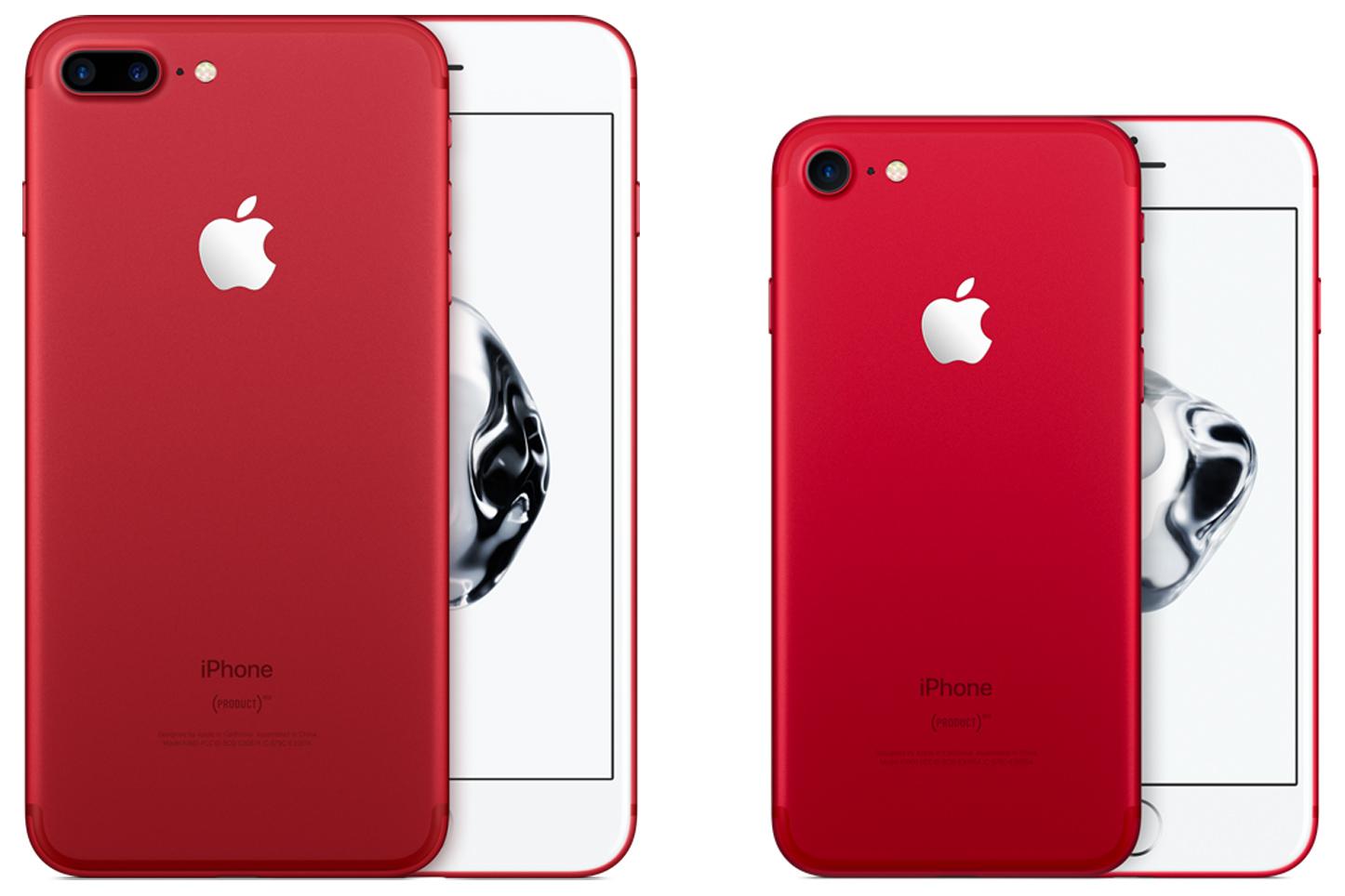Фото айфона 7 плюс красного цвета