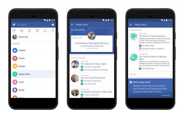 Социальная сеть Facebook добавляет функцию «Проверка безопасности» (Safety Check) впостоянный раздел
