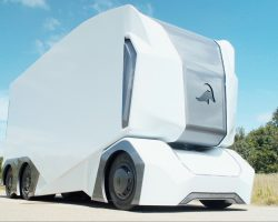 Einride представила прототип беспилотного грузовика T-pod без кабины