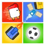 Игры на двоих троих 4 игрока - змея, танки, Футбол
