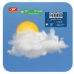 Прогноз погоды с прозрачным виджетом и часами