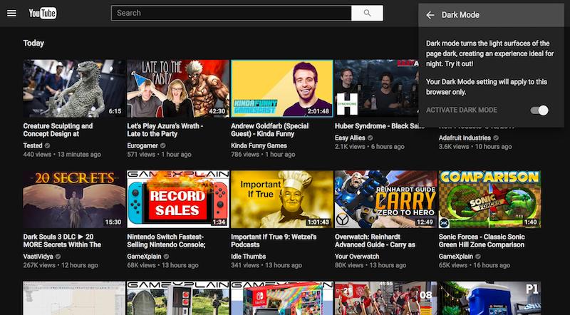 Как включить «Темный режим» в YouTube на Chrome