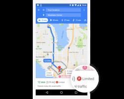 Google Maps на Android сможет помочь выбрать парковку