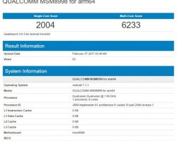 Процессор Snapdragon 835 прошел тест Geekbench