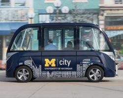 В США по кампусу Университета Мичигана будет курсировать беспилотный автобус