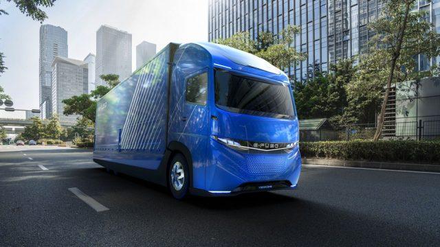 Японская «дочка» Daimler выпустила 1-ый вмире электрогрузовик
