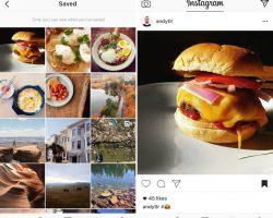 В Instagram для iOS и Android добавлена вкладка для сохраненных фото и видео