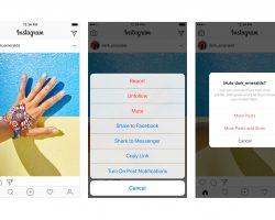В Instagram теперь можно скрывать из ленты публикации отдельных пользователей