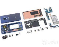 Специалисты iFixit оценили ремонтопригодность смартфона Samsung Galaxy S9+ в четыре балла