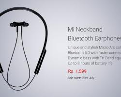 Xiaomi представила беспроводные наушники Mi Neckband Bluetooth Earphones