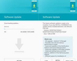 Samsung начинает распространять обновление ОС до Android 7.0 для Galaxy S7 и S7 edge в России и Индии