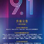 Huawei рассказала какие модели смартфонов планируется обновлять до EMUI 9.1