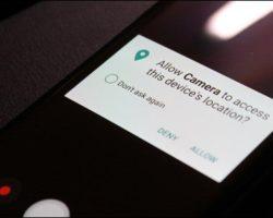 Как отключить сохранение данных о геолокации фото для Android