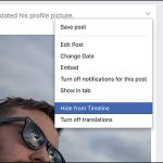 Как скрыть пост на Facebook, не удаляя его