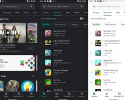 Магазин Google Play получил темную тему, но только на Android 10